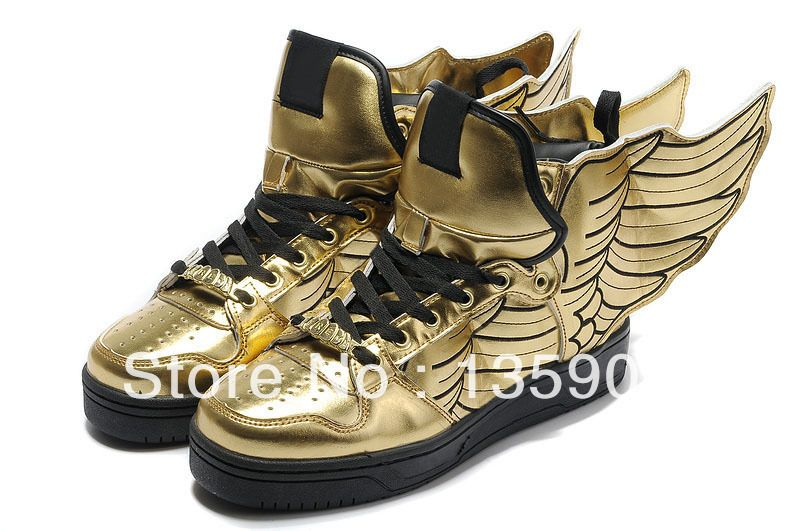 Buy Buy Jeremy Scott X Adidas Originals JS Wings Gold Black Discount from  Reliable Buy Jeremy Scott X Adidas Originals JS Wings Gold Black Discount  ...