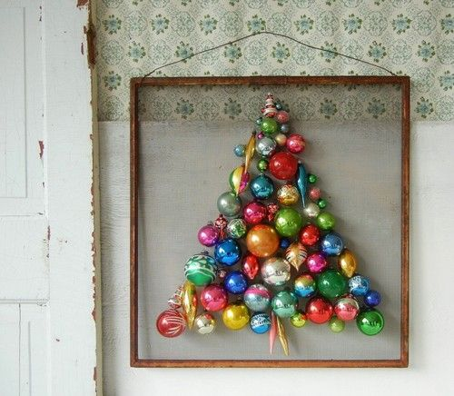 #bauble #christmas #tree - so pretty and a great use for all those old baubles when you've HAD to buy new ones :)..Nelly x