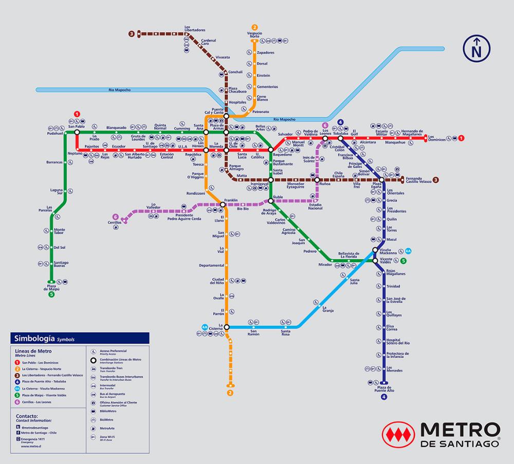 Pin En Metro Santiago