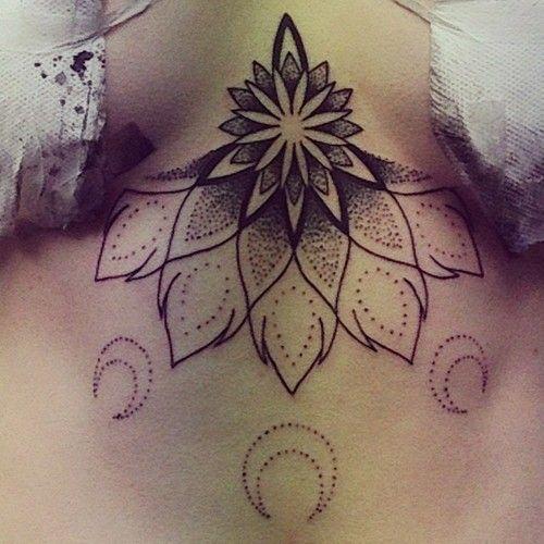 Stomach | Moon Tattoo