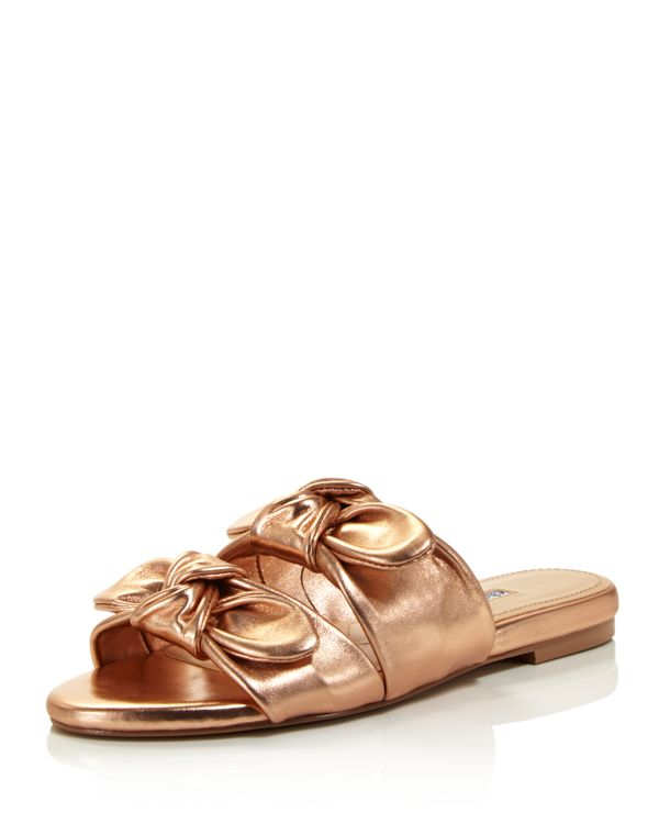 Cheap Discount Authentic Charles David Women's Souffle Leather Slide Sandals Limited Clearance Online Cheap Real Free Shipping Buy Latest Cheap Online OSwDTR2i2