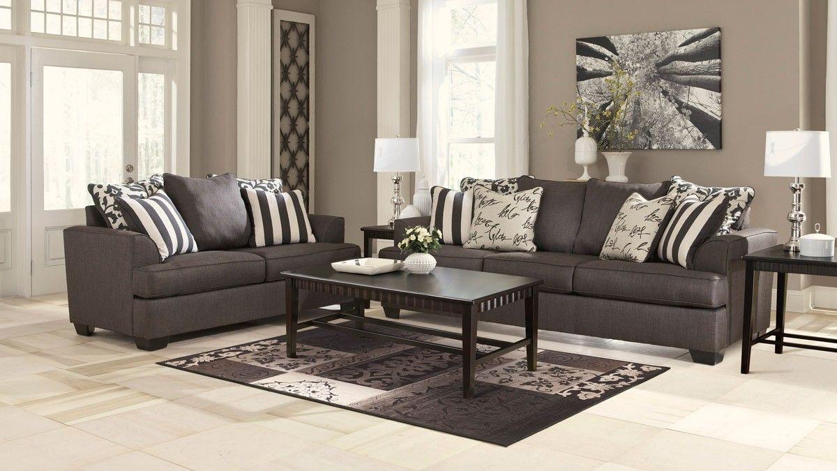 Ashley Levon Charcoal Sofa Levon Sofa Set Dfw Furniture Room