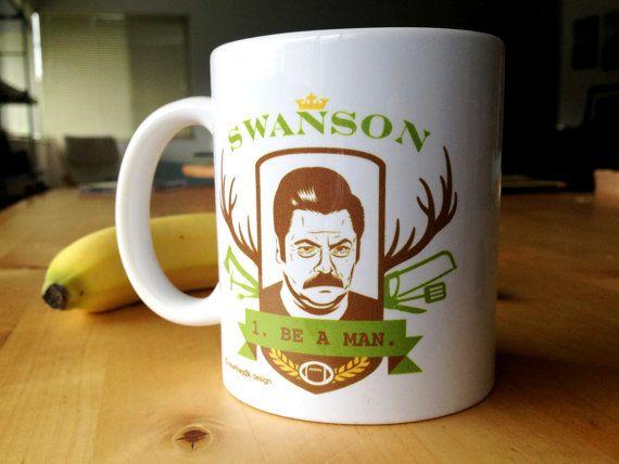 Ron Swanson Coffee Mug by courtney2kdesign on Etsy, $16.00