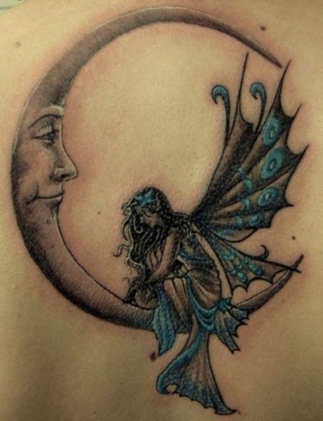 Fairy Sitting On Moon Fairy Tattoo Butterfly Tattoo Tattoos