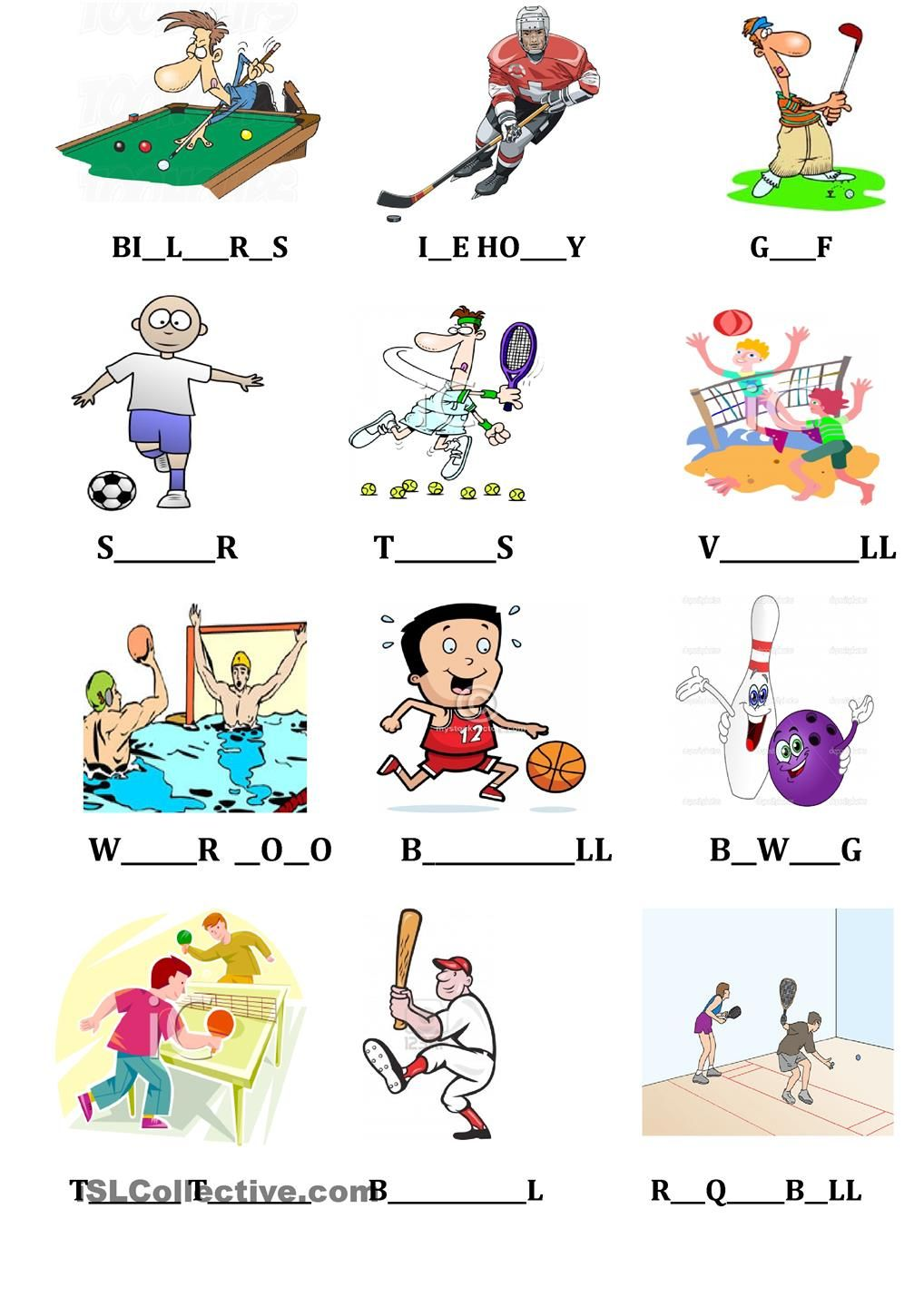 Sports & Camping Flashcard, spelling dictionary Sports
