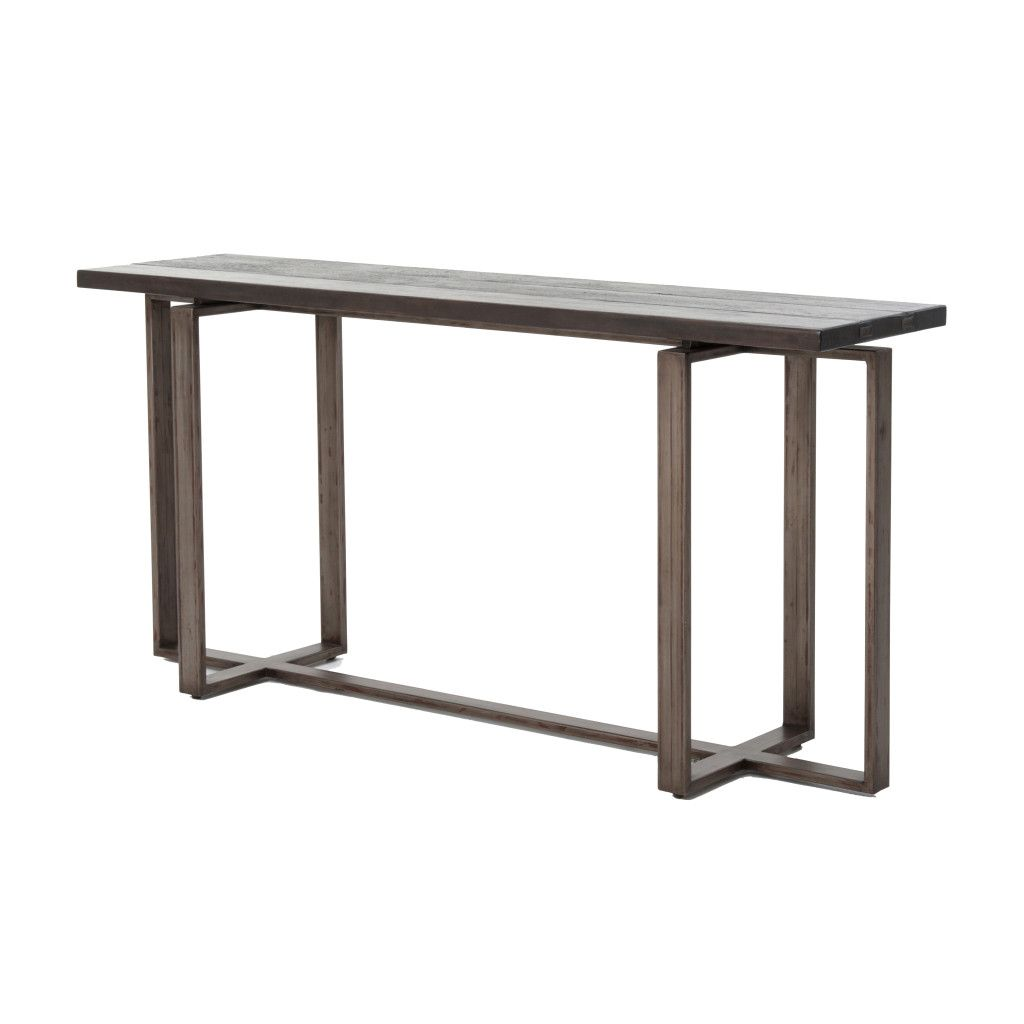 Combes console table the combes console table is crafted from a combes console table the combes console table is crafted from a metal base that has been grey washconsole tables geotapseo Choice Image