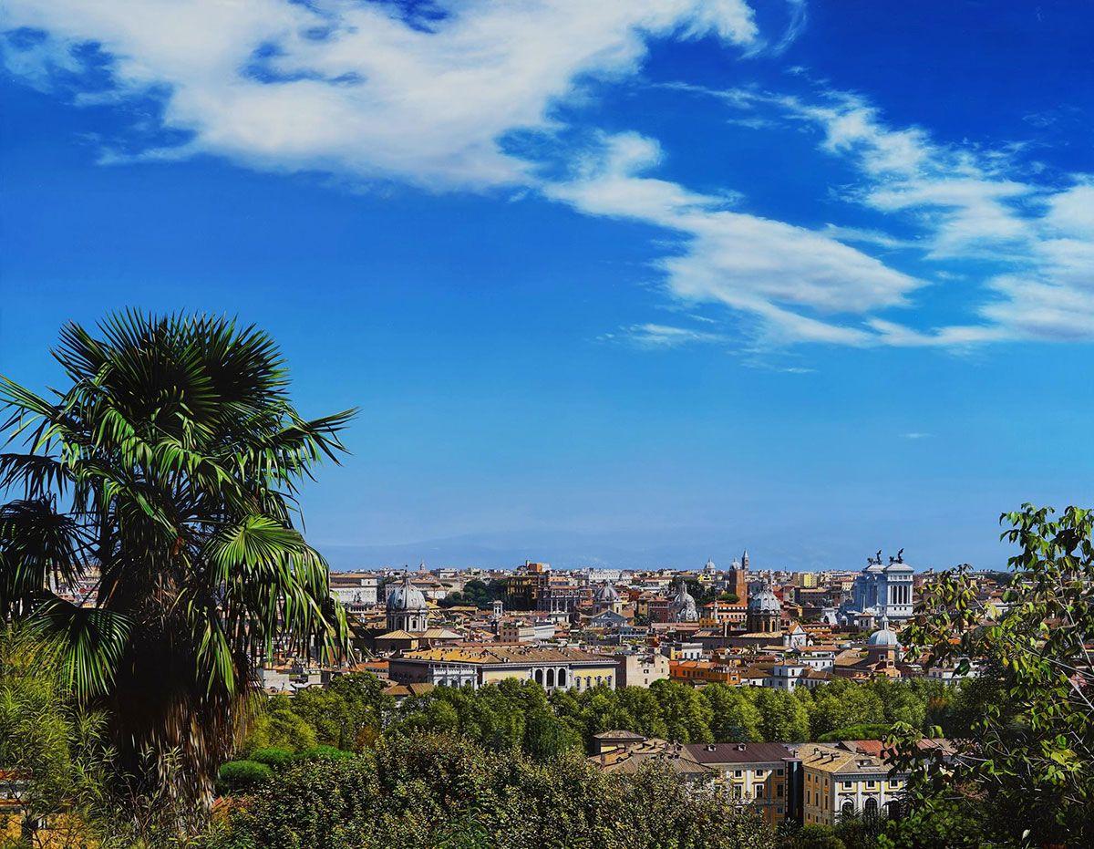 Roma dal Gianicolo - Raphaella Spence - Bernarducci Meisel Gallery