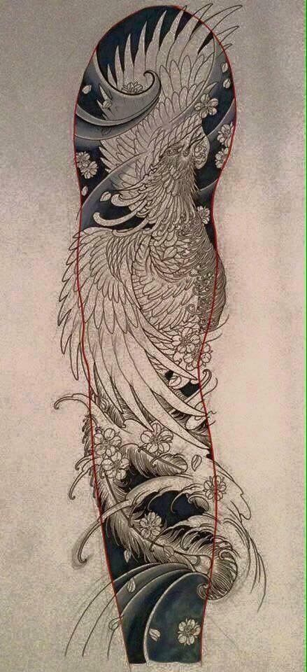 Saving For How To Lay Out A Sleeve Design Phoenix Tattoo Phoenix Tattoo Sleeve Japanese Phoenix Tattoo