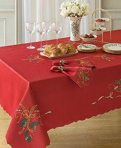 Lenox Holiday Nouveau Cutwork 60 X 120 Tablecloth Manteles De Navidad Manteles Navidenos Manualidades Navidenas