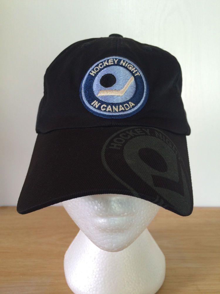 Hockey Night In Canada Logo Cap Black One Size Reebok Roger Edwards