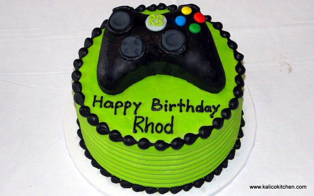 Birthday cakes boys microsoft xbox 1 boy birthday cake