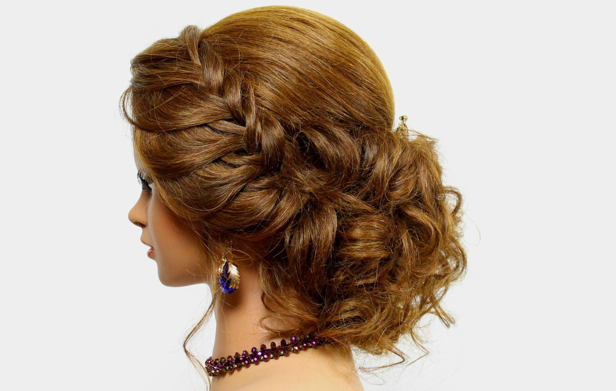 hairstyle for long medium hair. wedding prom updo | lips
