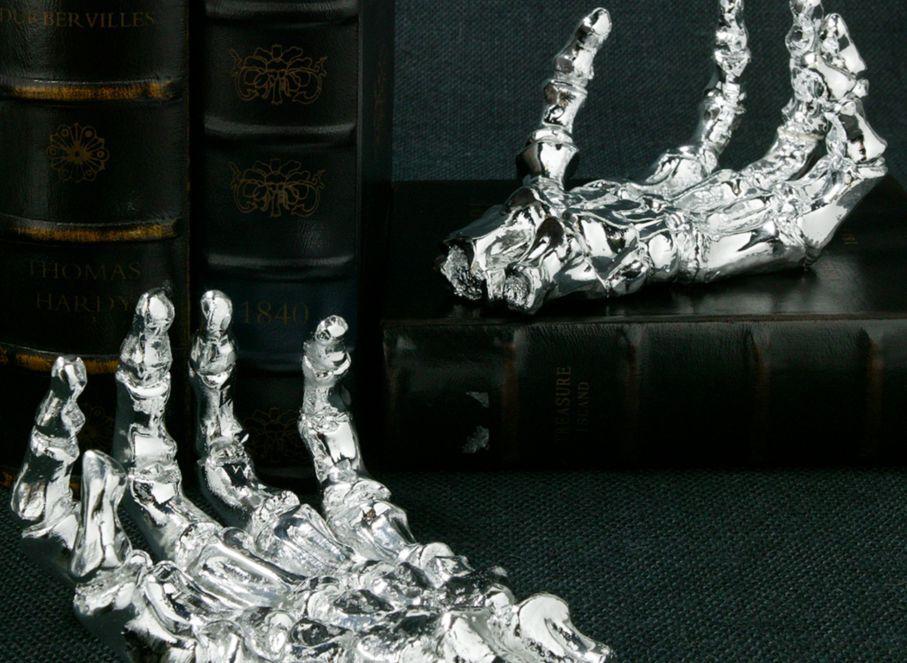 Metallic Skeleton Hand Z Gallerie Classy halloween
