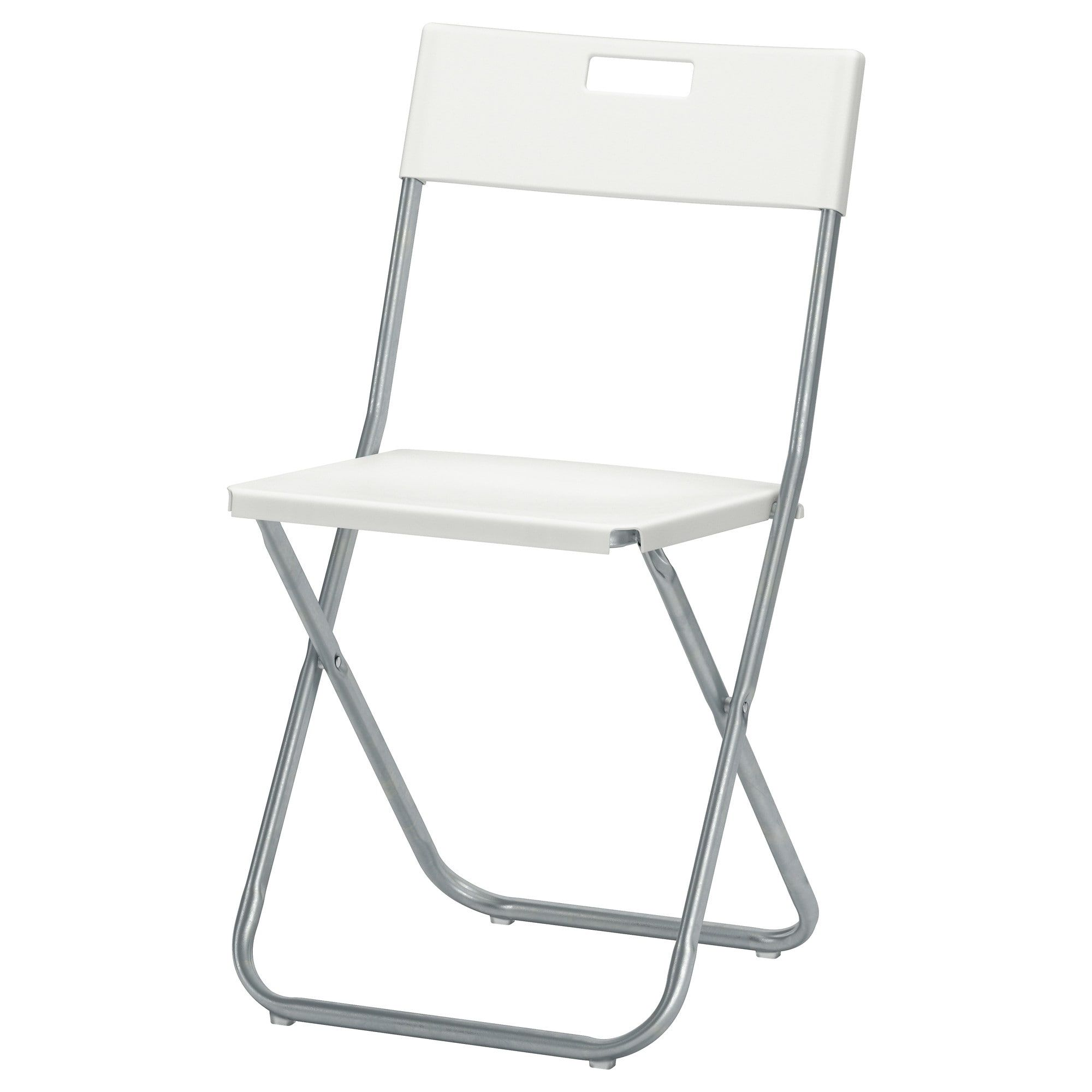 IKEA GUNDE Folding chair white Flavor inn Ikea