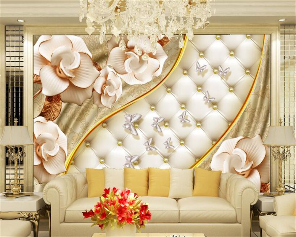 Beibehang Custom Wallpaper Living Room Bedroom Murals 3d Luxury ...