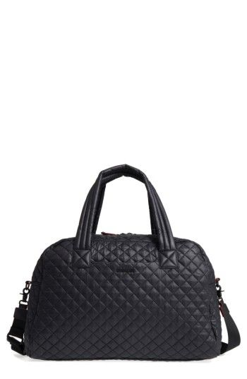 MZ WALLACE MZ WALLACE JIM QUILTED NYLON DUFFEL BAG - BLACK.  mzwallace  bags   travel bags  nylon  weekend  lace   4c2c5edd6a80a