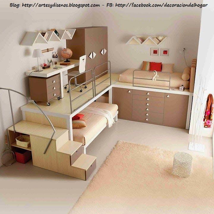 Muebles funcionales para espacios peque os by for Decoracion ambientes chicos
