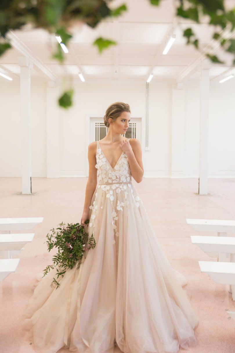 e55e7335fd Blush Wedding Dress Styles We Love in 2018