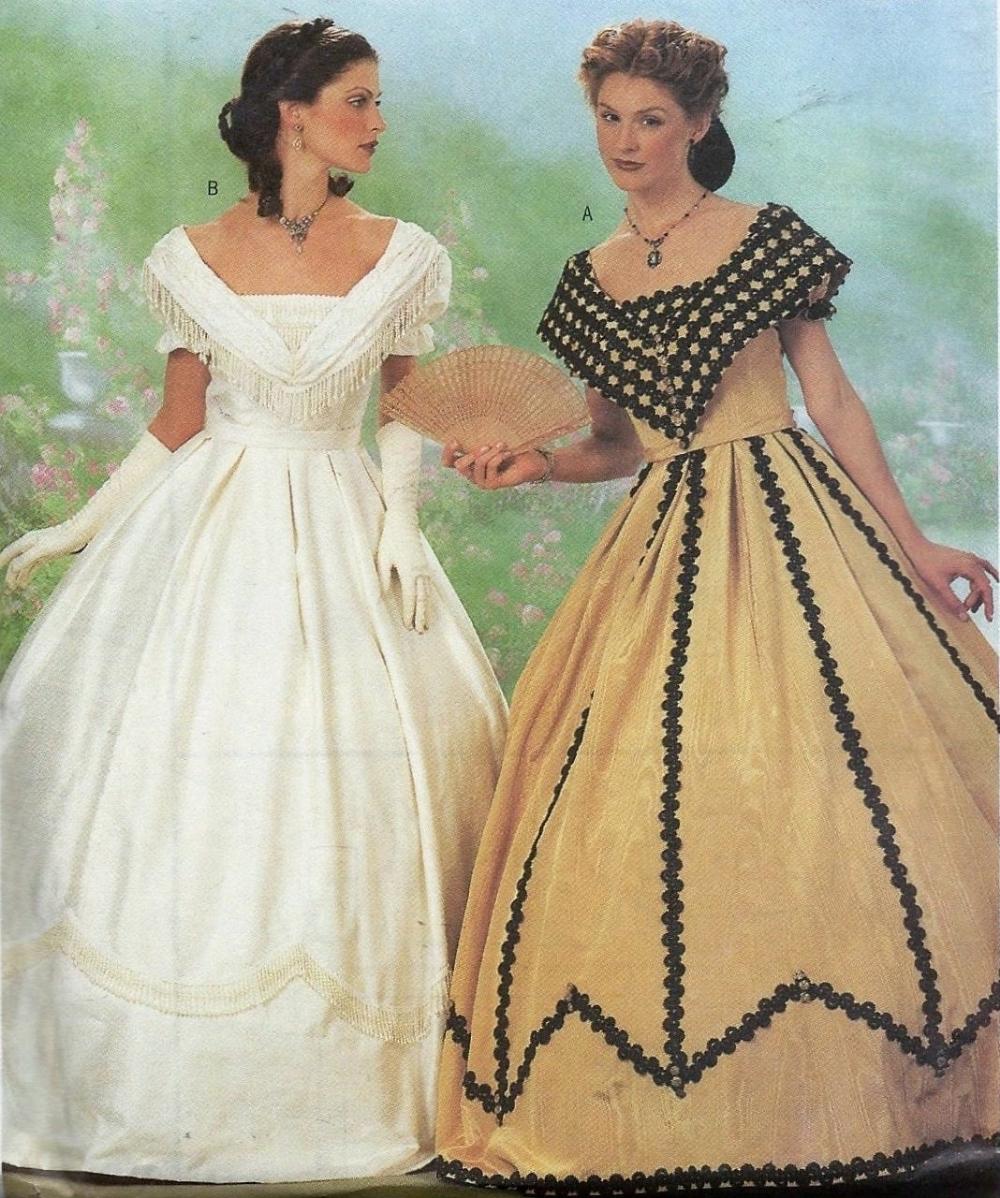 Butterick 6693 Civil War Dress Costume Sewing Pattern