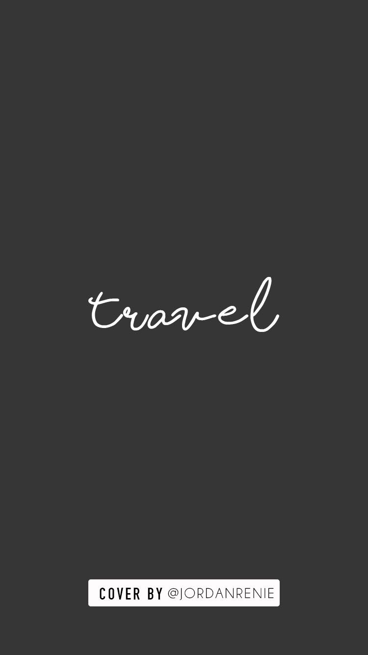INSTAGRAM STORY COVER - TRAVEL