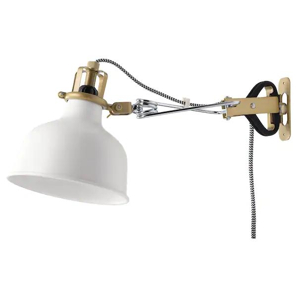 RANARP Wallclamp spotlight with LED bulb, off white IKEA
