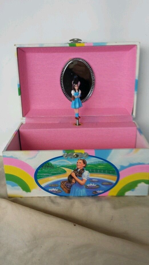 The Wizard Of Oz Musical Jewelry Box 1988 Plus 19 Fact Cards Pacific
