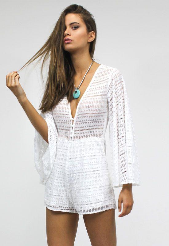 8905e6fa28 Gypsy Love Romper - WHITE - Playsuits - Lioness Fashion