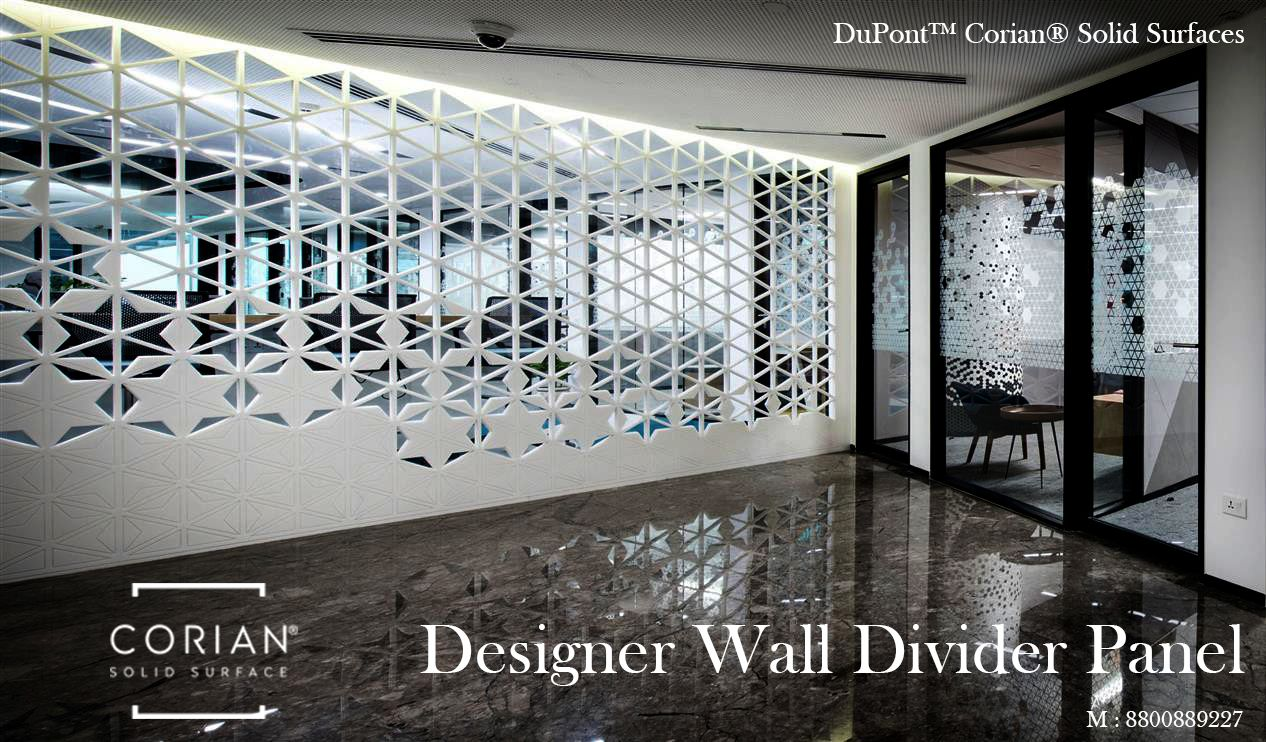 Corian Solid Surfaces Designer Wall Divider Panel For Inquiry Contact 8800889227 Interiordesign Architects Divider Wall Wall Cladding Corian Countertops