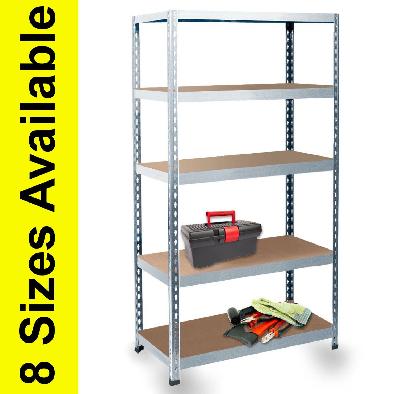 Heavy Duty Steel Metal Shelving Racking Shelf Garage Storage System Unit