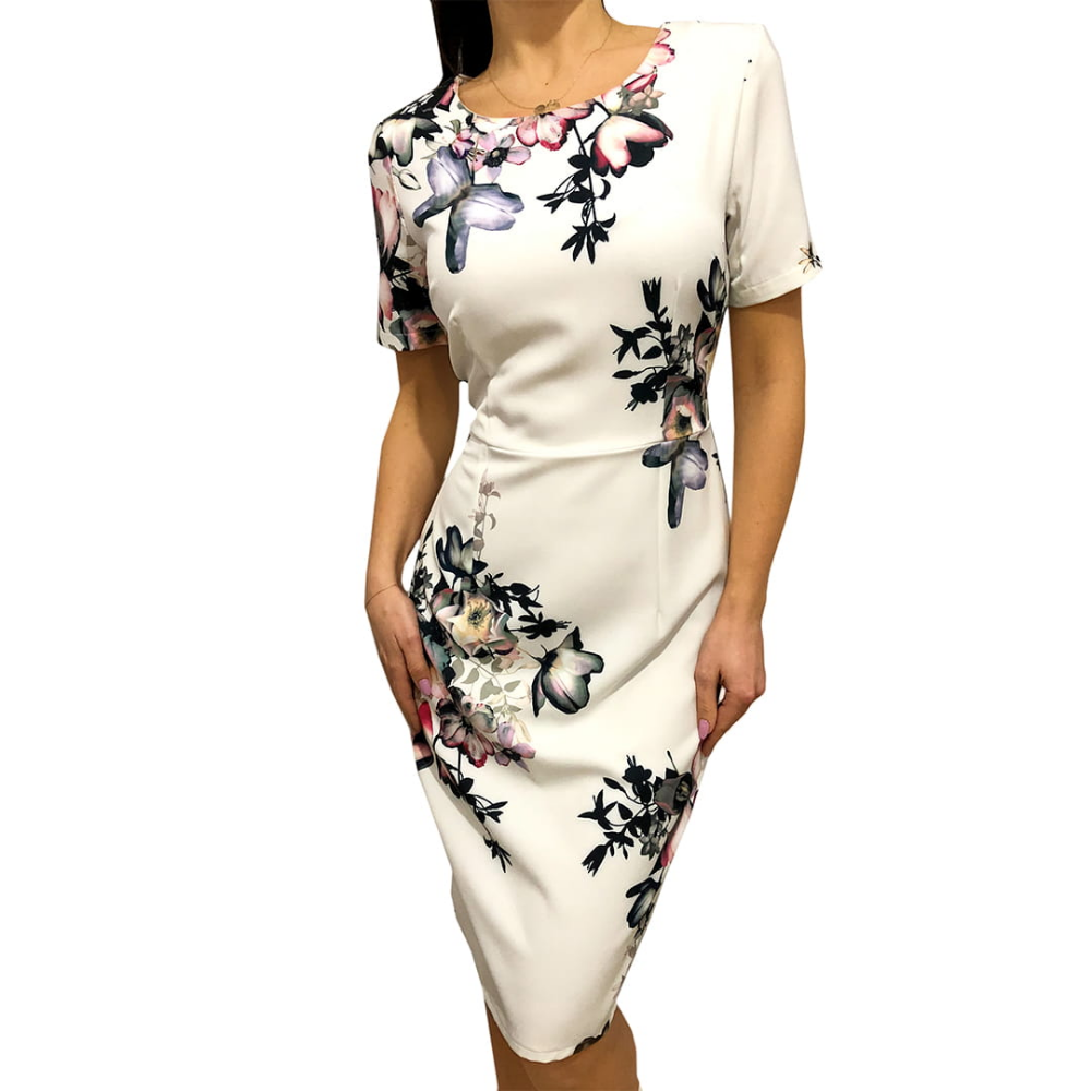 Kremowa Sukienka W Kwiaty 2492 10 A Modnakiecka Pl Fashion Bodycon Dress Dresses