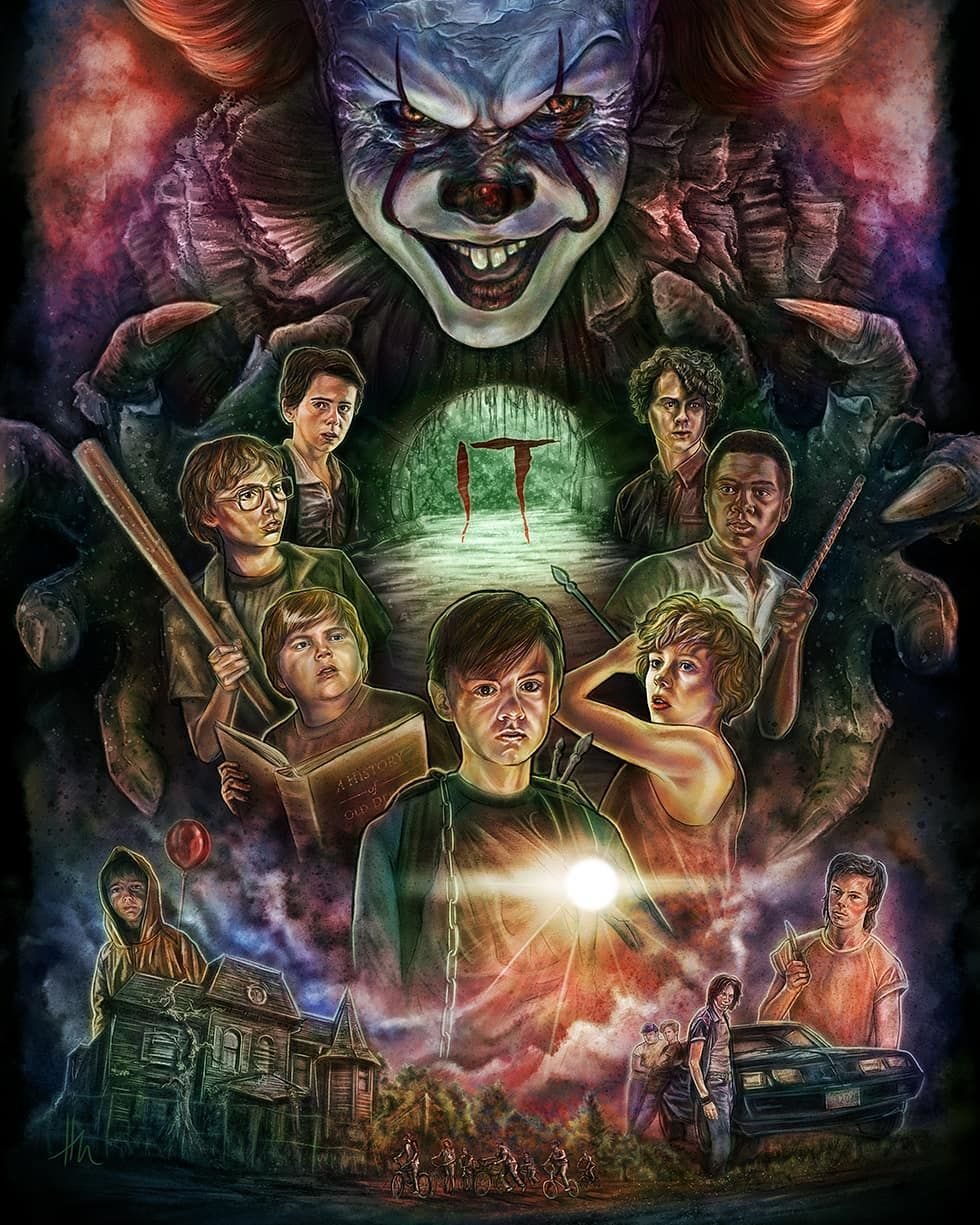 Holliematney It Pennywise Stephenking Movie Wallpapers Horror Movie Icons Horror Movie Art