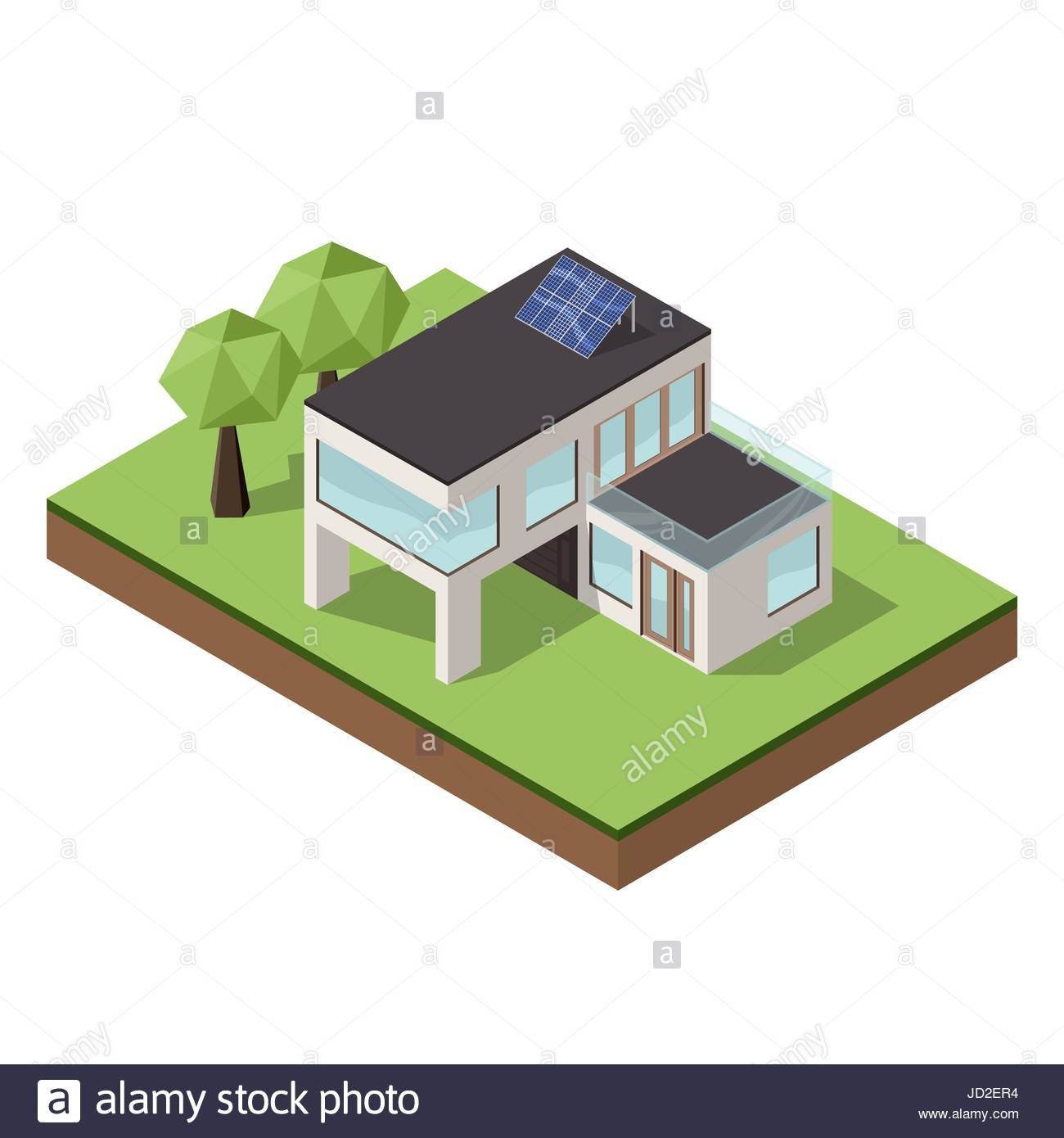 Vector illustration of isometric large private modern cottage or Stock Vector Art & Illustration, Vector Image: 145729000 - Alamy