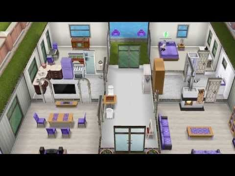 The Sims Freeplay Social Update Purple House Sims House Plans Sims House Sims Freeplay Houses