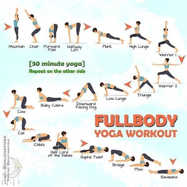Follow Yogadailypractice 30 Minute Full Body Yoga Workout Halonayoga Yinyoga Yo Full Body Yoga Workout 30 Minute Yoga How To Do Yoga