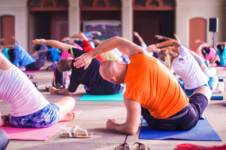 Yoga exercise class