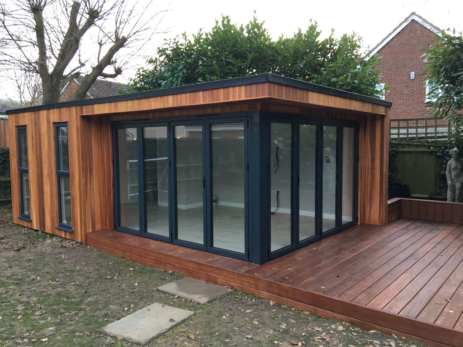An Essex Couple Got Their Dream Garden Room For 41k Homify Contemporary Garden Rooms Backyard Office Garden Room