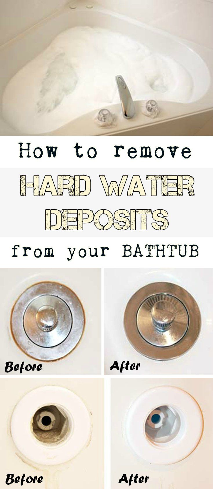 How to remove hard water deposits from your bathtub ...