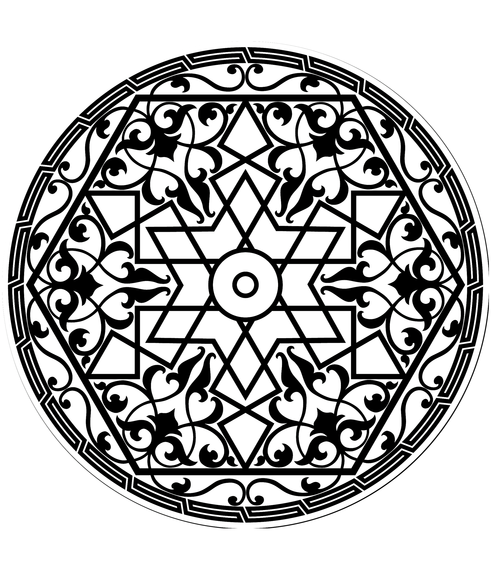 free coloring page coloring pattern arabe arabs patterns in