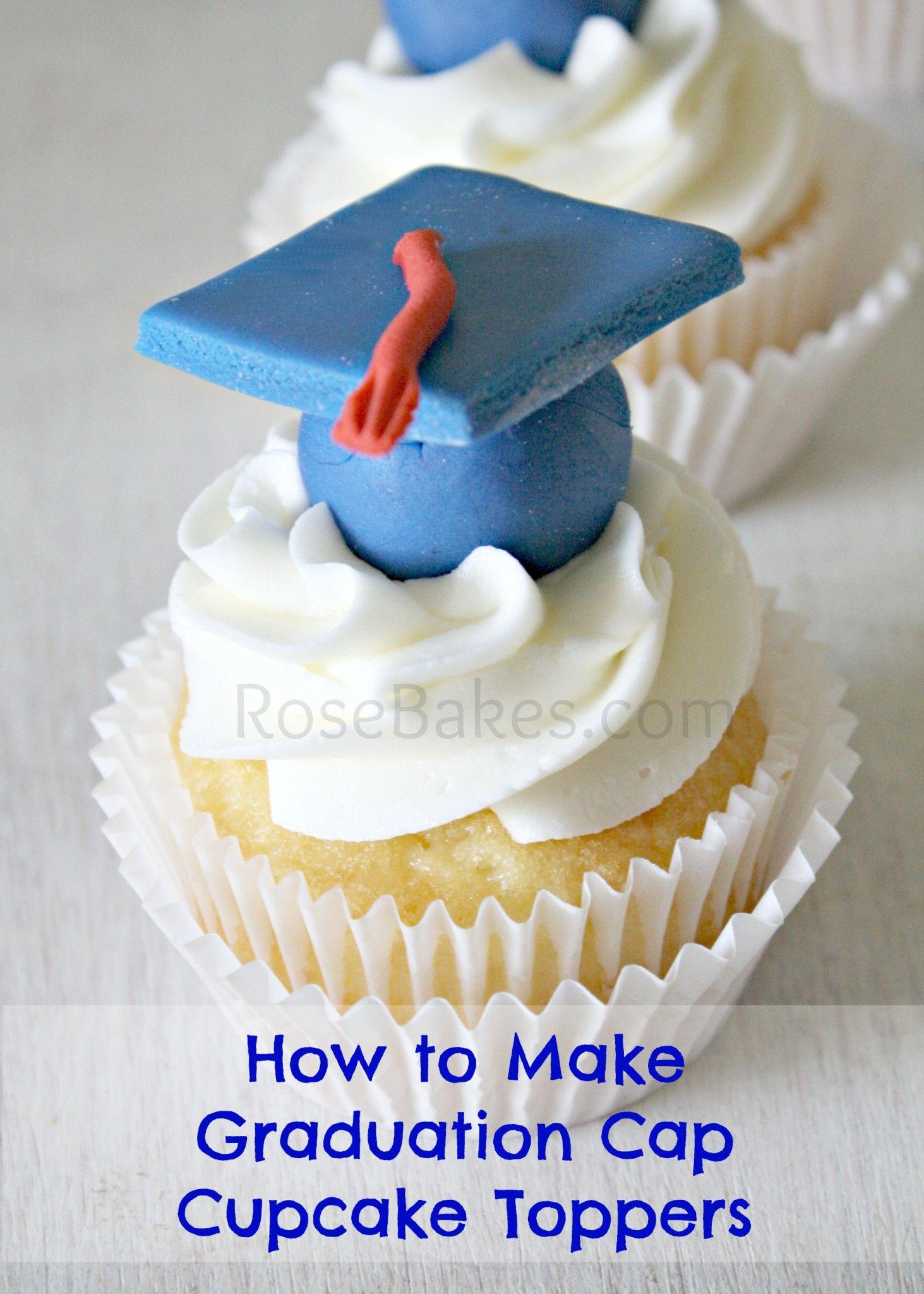 How to Make Graduation Cap Cupcake Toppers WM