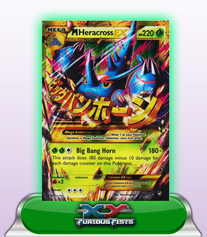 MEGA HERACROSS EX SHINY HP220 - 112/111 | Pokemon cards ...