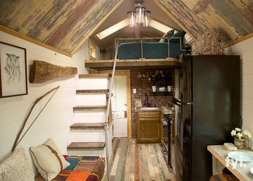 Interior of a house on Tiny House Nation FYI channel Tiny