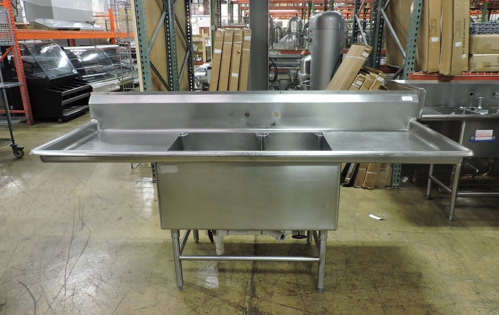 Commercial Stainless Steel Sink w/ 2