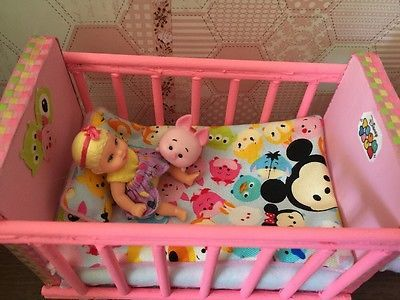 Barbie Baby Nursery Set Furniture Crib, Baby Bottle,Sofa ,Carrier ...