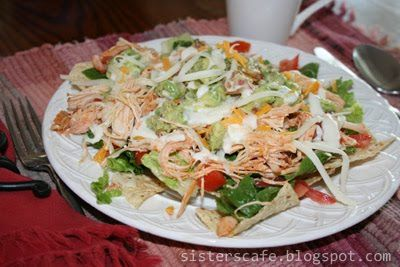 Frank's Red Hot Chicken Salad - healthy and amazing!  Is anyone else a crazy Frank's Red Hot Sauce fan?