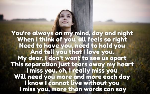30 Emotional I Miss You Love Poems for Her & Him with