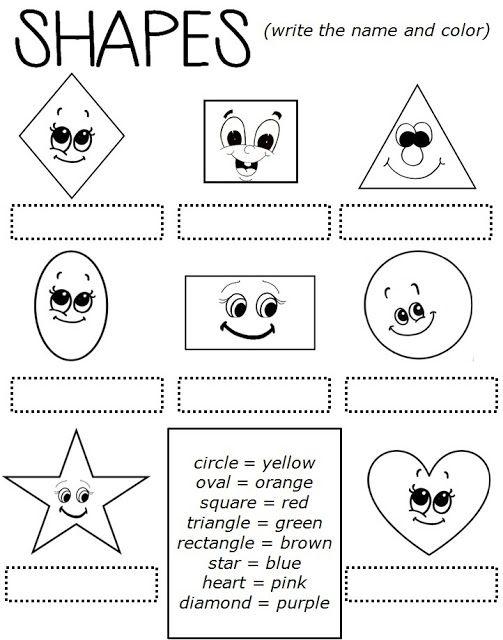 Enjoy Teaching English: SHAPES (worksheet)   Classroom Ideas: Colors ...