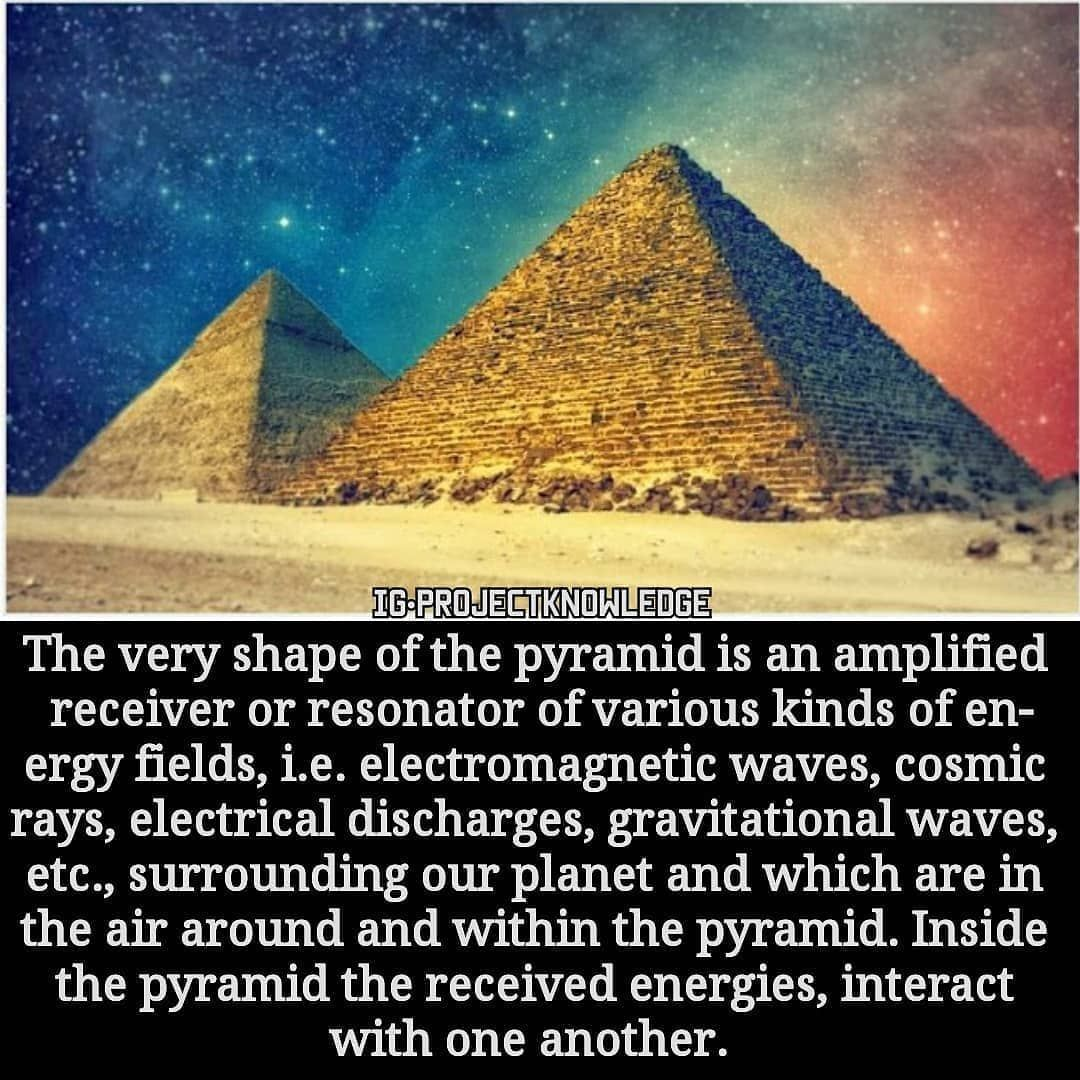 How does the pyramid create a spherical field of harmonic