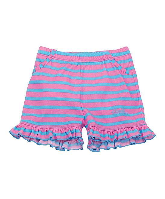 Bubblegum Stripe Ruffle Swim Bloomers - Infant