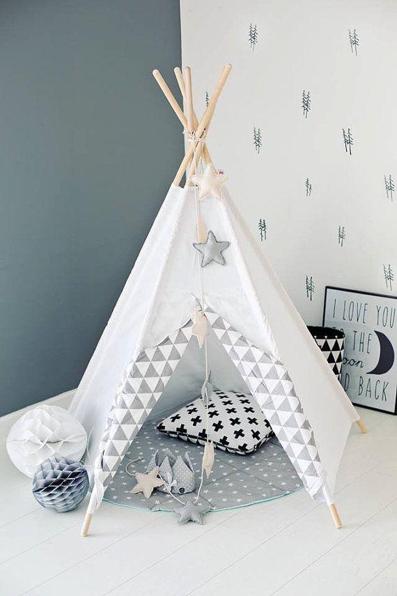 Tipi Teepe Wigwam Zelt Tent Playtent White Kids Teepee