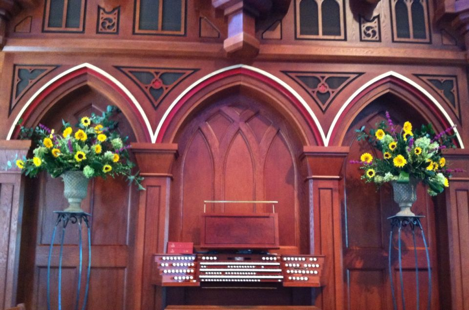 Andrew's concert  and 9-20-15 altar flowers (Judy Whichard)